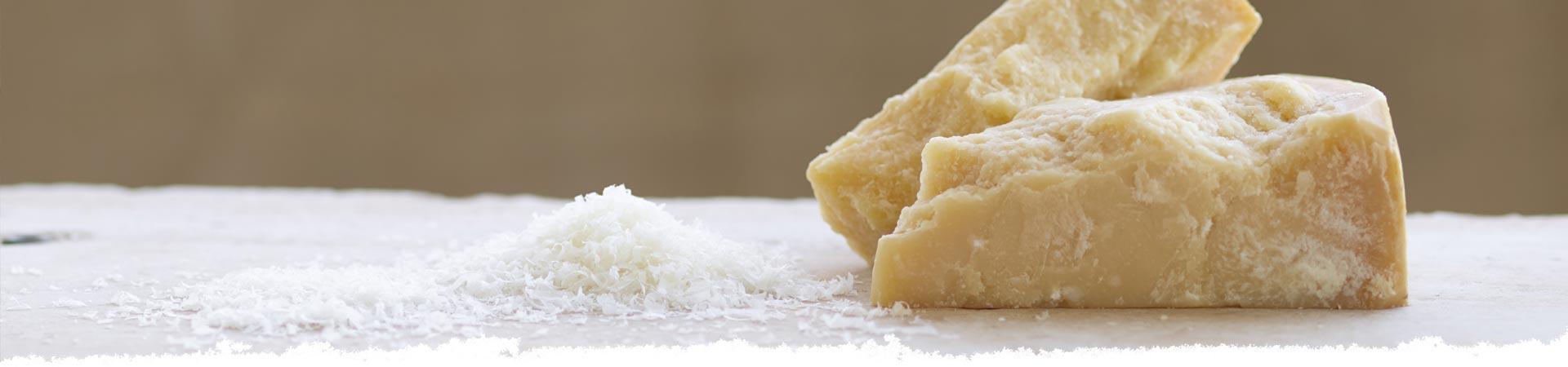 Grating Parmigiano Reggiano