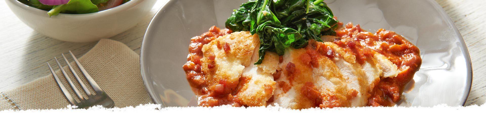 Asiago & Artichoke Chicken Florentine