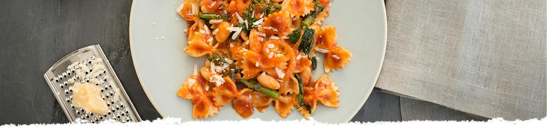 Bow Ties with Broccoli Rabe and Cannellini Beans