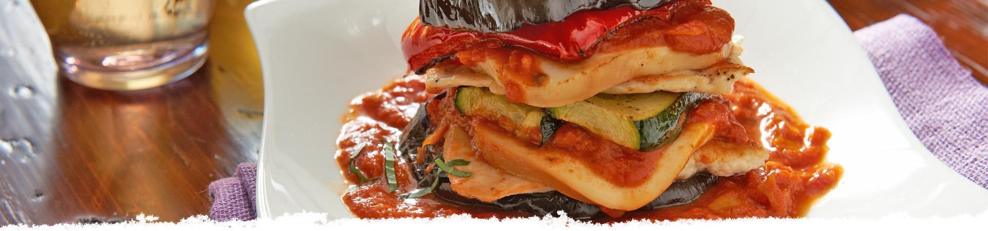 Chicken & Asiago Artichoke Veggie Stacks