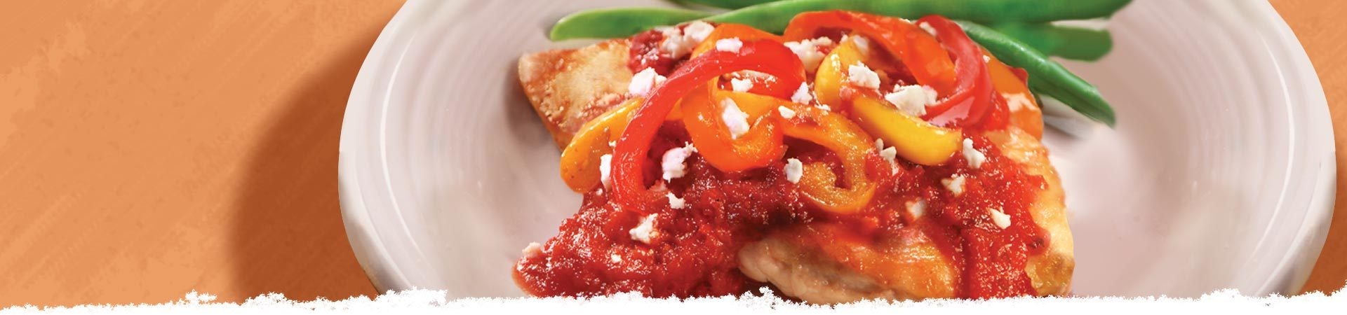 Chicken with Peppers & Goat Cheese