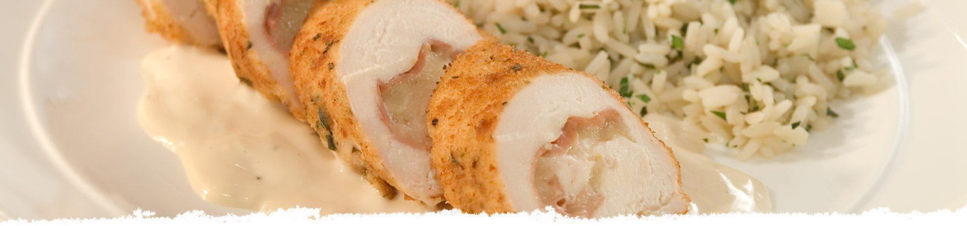 Chicken Rollatini Alfredo