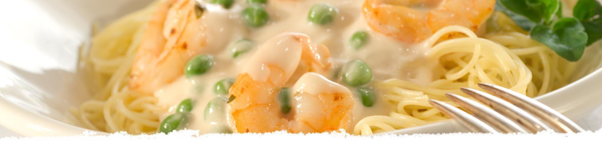 Creamy Garlic Shrimp With Angel Hair Pasta