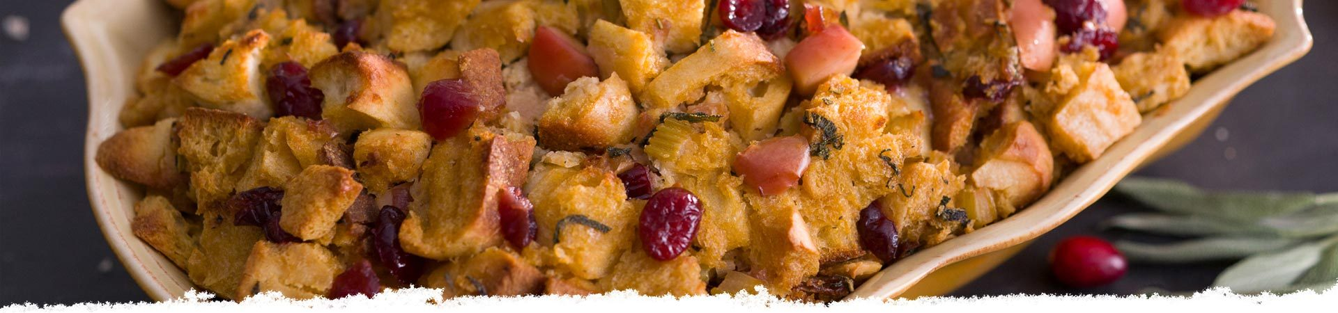 Focaccia, Cranberry, and Sage Stuffing