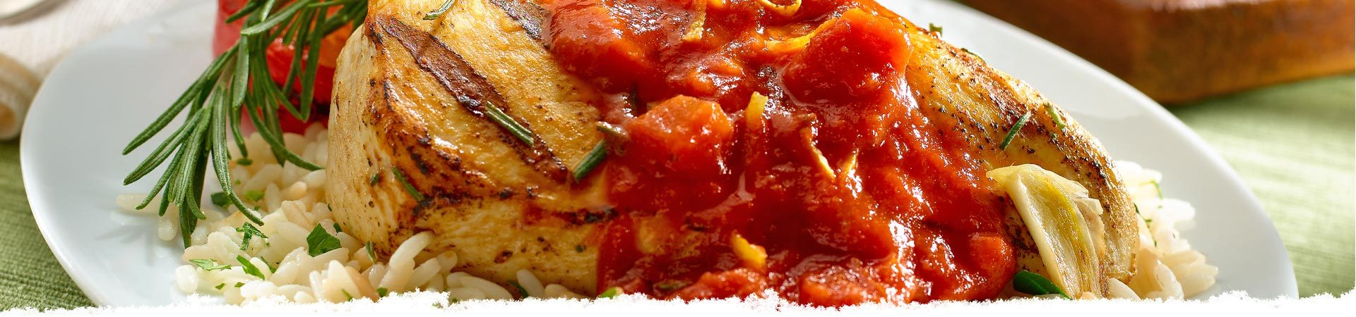 Grilled Chicken with Roasted Tomato Sauce