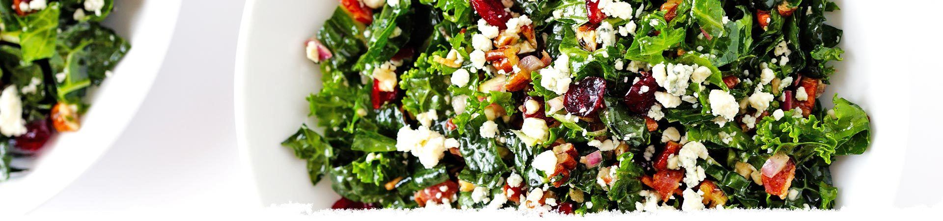Kale Salad with Bacon and Blue Cheese