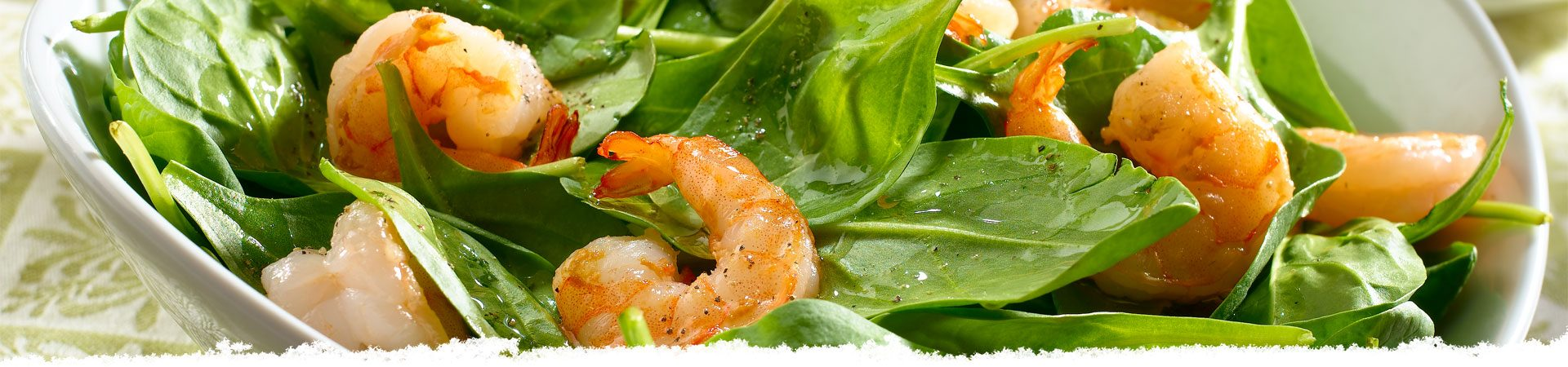 Pan Roasted Shrimp with Lemon, Garlic & Spinach