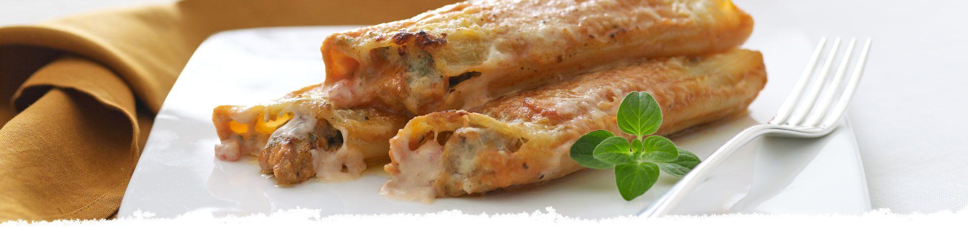 Pork Mascarpone Manicotti