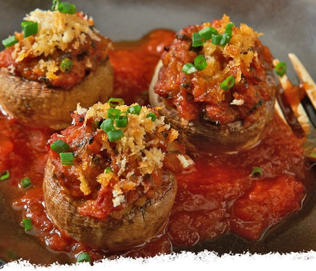 Balsamic Stuffed Mushrooms