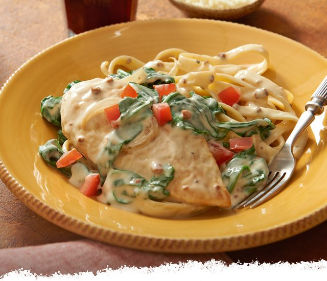 Chicken Florentine Carbonara