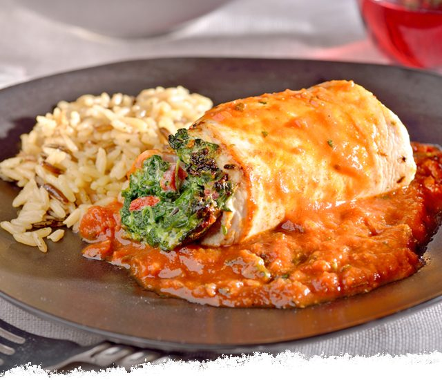 Chicken Florentine in Marinara Sauce