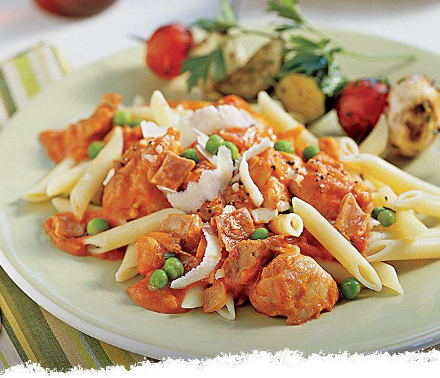 Chicken with Peas, Parmesan, & Prosciutto