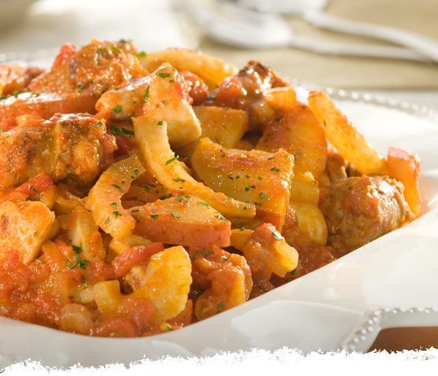 Chicken & Sausage Scarpariello Spicy Marinara
