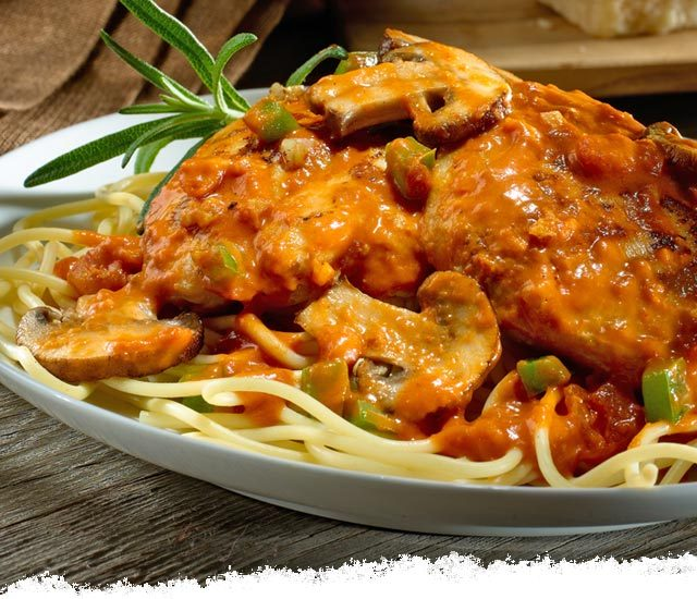 Chicken Vodka Cacciatore