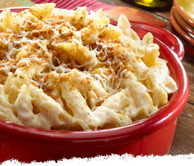 Oven-baked Alfredo Pennoni & Cheese