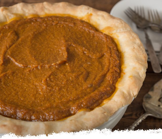 Pumpkin Pie with Olive Oil Pie Crust