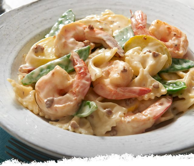 Shrimp Primavera Carbonara