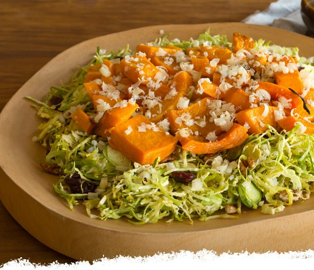 Squash and Sprouts Salad