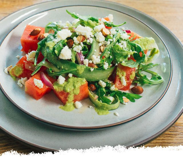 Watermelon Salad with Basil-Lime Vinaigrette