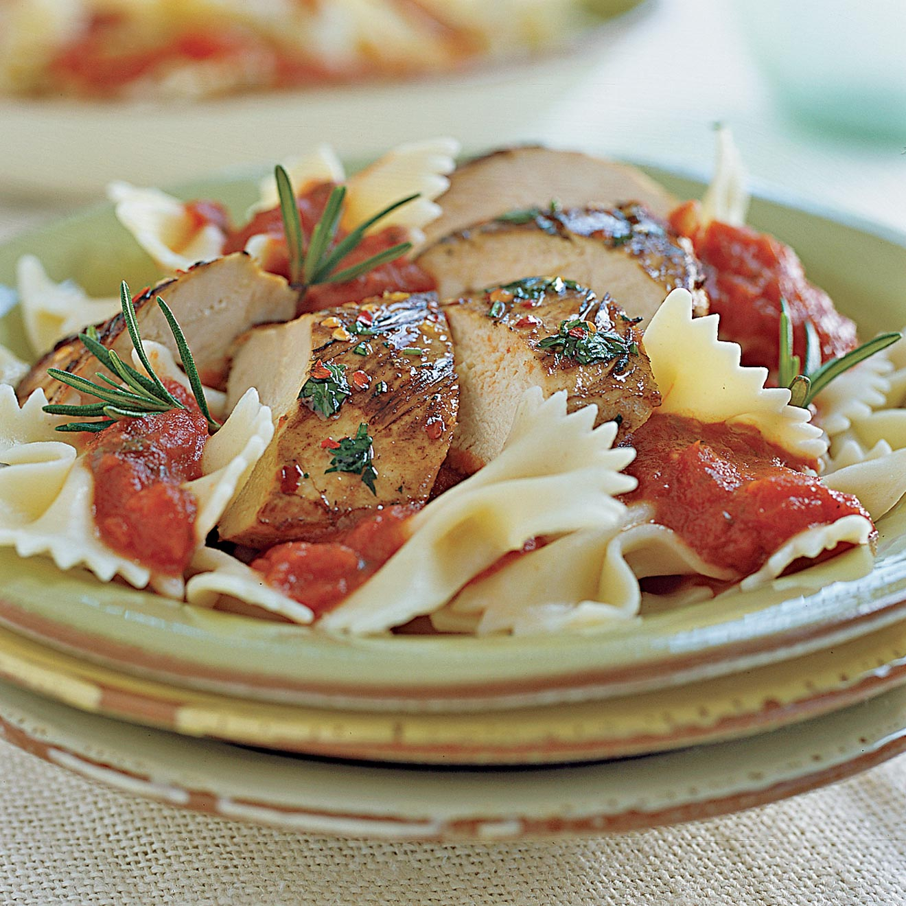 Farfalle with Herb-Marinated Grilled Chicken - Bertolli