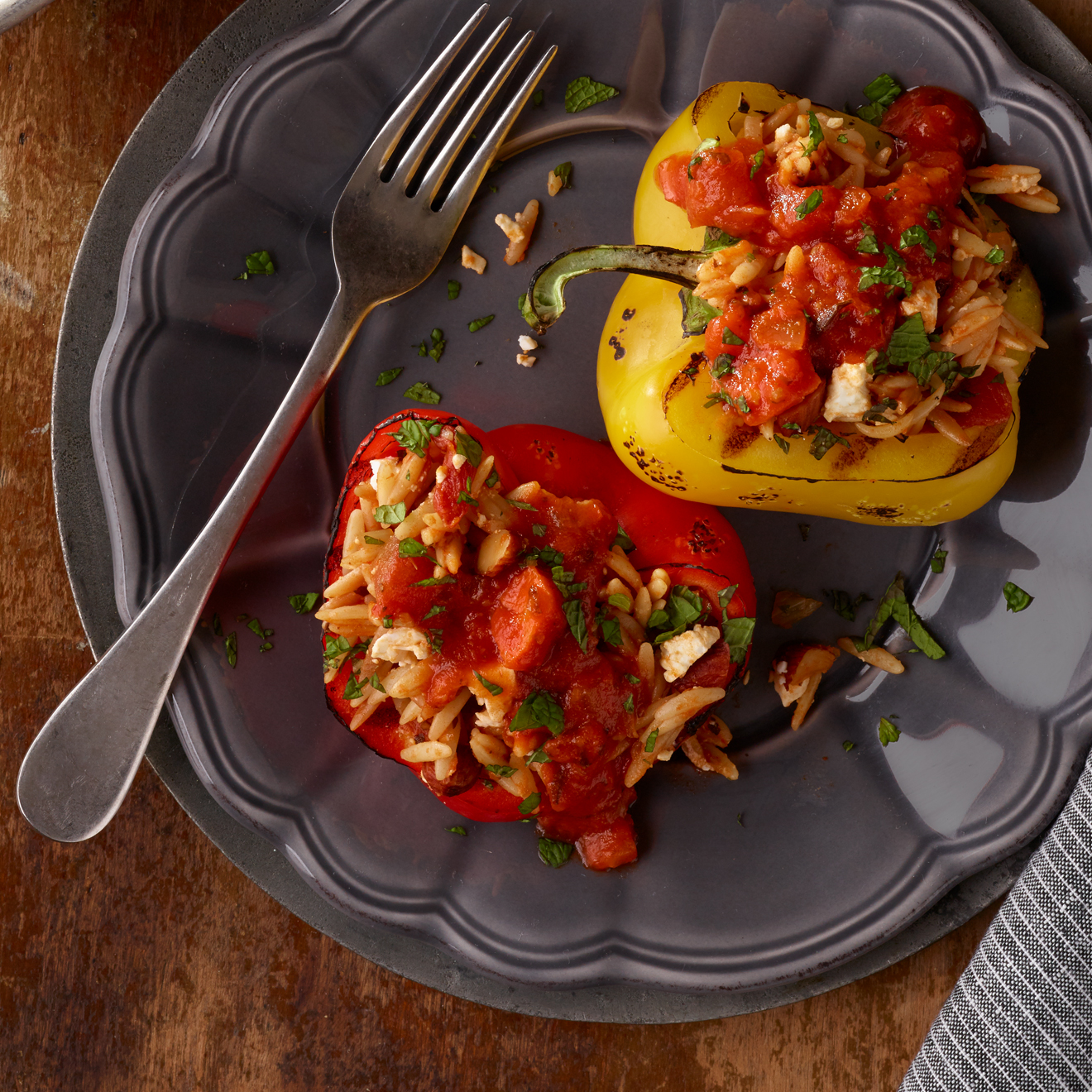 Grilled Mediterranean Stuffed Peppers