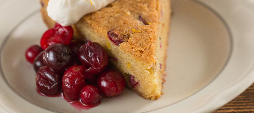 Cranberry Orange Olive Oil Cake