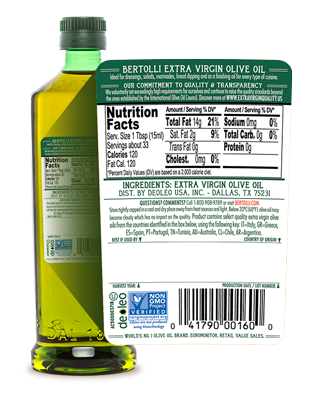 Identifying Quality Extra Virgin Olive Oil - Bertolli