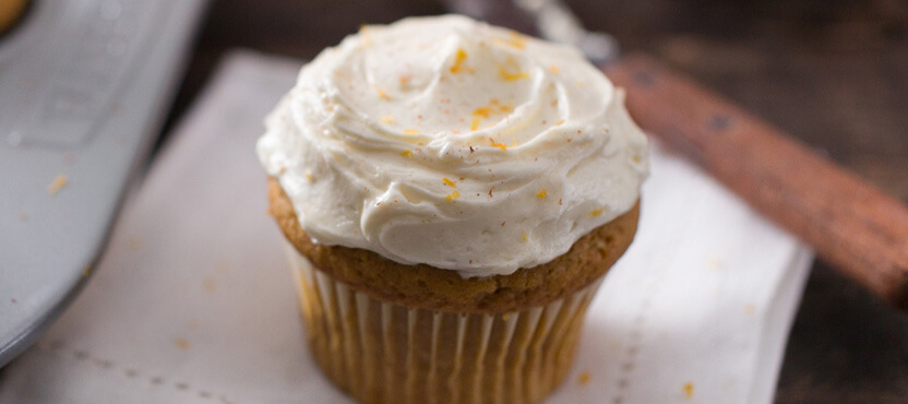 Pumpkin Cupcakes with Mascarpone Frosting