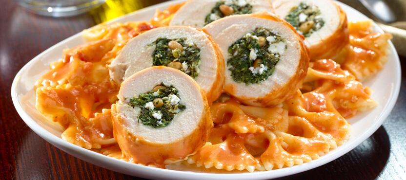 Spinach-Stuffed Chicken Alla Vodka