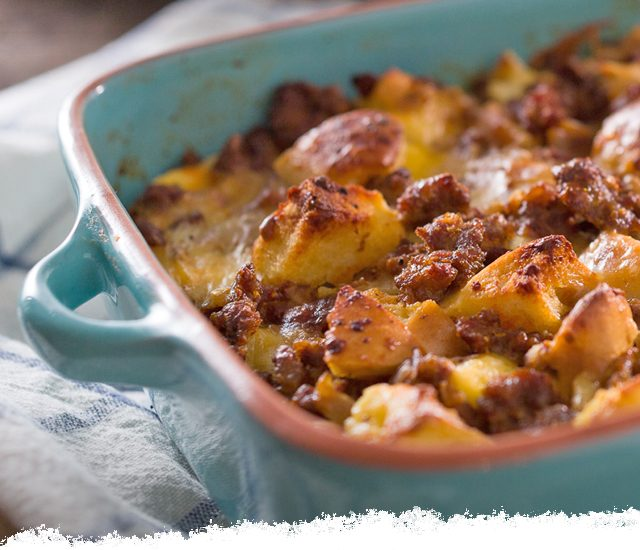 Bagel & Chorizo Egg Casserole