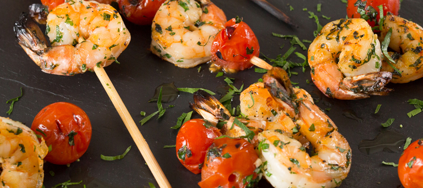 Grilled Jumbo Shrimp With Tomatoes