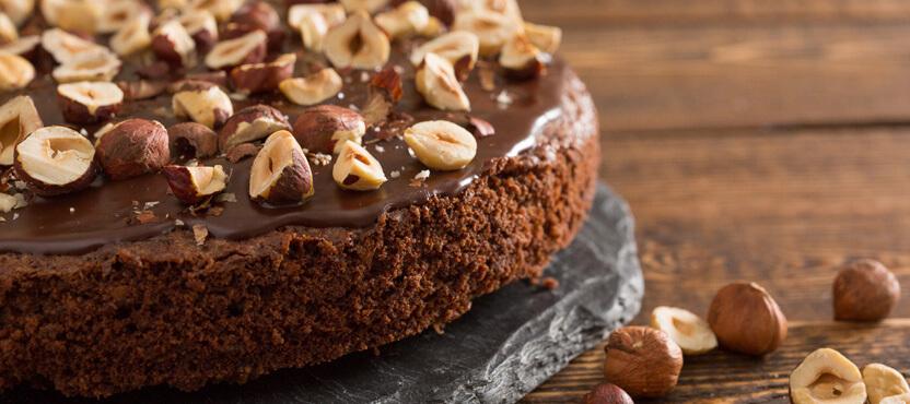 Olive Oil Chocolate Hazelnut Cake
