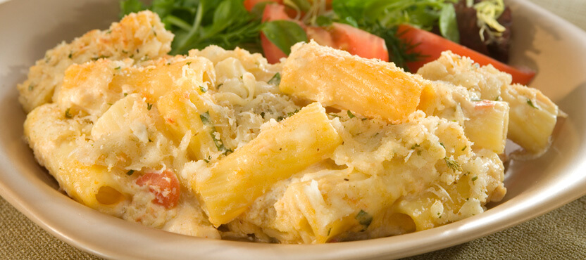 Oven-Baked Four Cheese Rigatoni Rosa