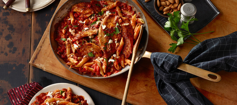Romesco-Style Penne with Chicken