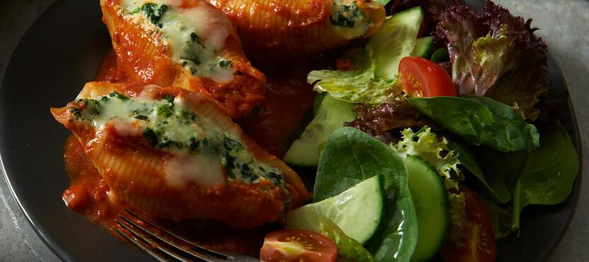 Spinach & Sundried Tomato Porcini Stuffed Shells