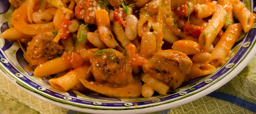 Tuscan-Style Penne with Sausage