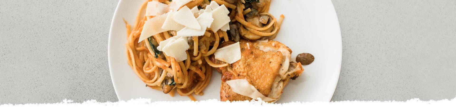 Braised Chicken with Linguine