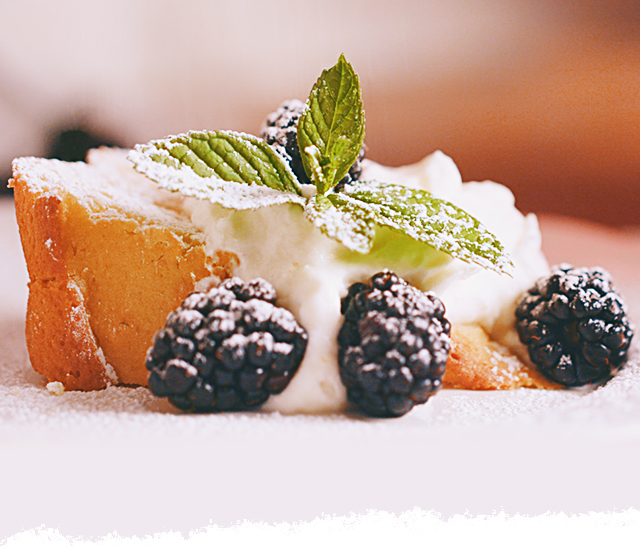 Lemon Blackberry Olive Oil Cake with Mascarpone Limoncello Cream