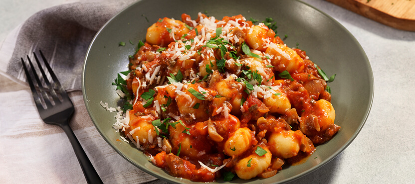 Gnocchi with Hearty Mushroom Bolognese