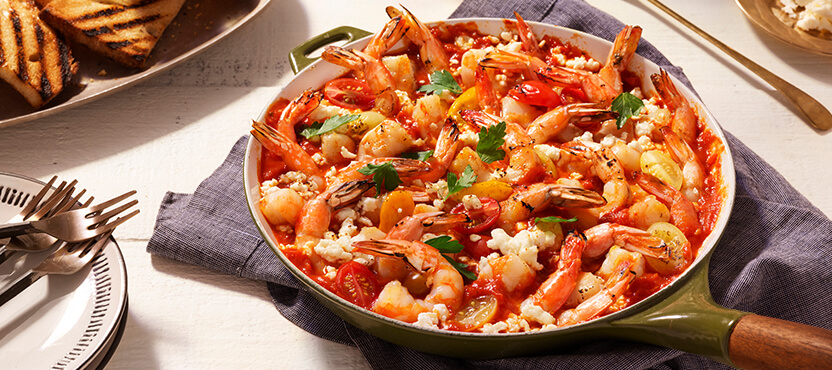 Roasted Shrimp with Herbs & Feta
